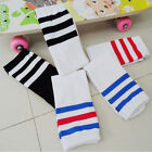 New Athletic Aock Backless White Striped Edge Football In Tube Cotton Soft Socks
