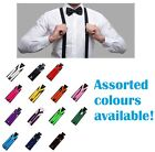 MENS SUSPENDERS ADJUSTABLE CLIP ON LONG STRONG WEDDING PARTY WOMENS SZ 100 CMS