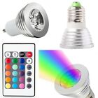 B22 E27 GU10 MR16 Color Changing LED Light Bulb Dimmable RGB Remote Control Lamp