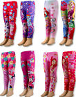 Kids Girls Disney Cartoon PAW PATROL/TROLLS/MY-L-PONY/BARBIE/Leggings Pants,2-12 image