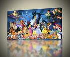 Disney Characters CANVAS PRINT Wall Art Decor Giclee Kids *4 Sizes* CA20