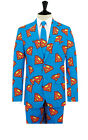OppoSuits Superman Slim Fit Novelty Suit - Jacket, Trousers & Tie included