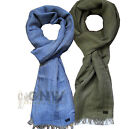 HUGO BOSS LUXURY MEN'S SCARF Elio-50259974 LINEN BLEND BLUE/GREEN NEW Was £59