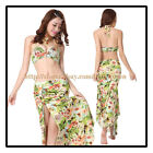 New 2015 Professional Belly Dancing Costumes Performance Stage 2Pics Bra&Skirt