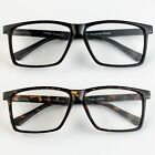 large lens reading glasses - Large Oversized Wayfarer Glasses READING Clear Lens Thin Frame Nerd Glasses Geek