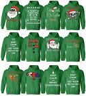 MENS WOMENS CHRISTMAS HOODIE UGLY CHRISTMAS SWEATER XMAS GIFTS SANTA GREEN