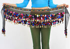 Belly Dance Costume Dancing Hip Scarf Wrap Belt Sequins with Crystals