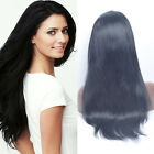 Top Quanlity100 Human Hair Lace Front Wig Silky Straight 1# Long Free Shipping