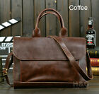 Men Portfolio Business Case PU Leather Briefcase Laptop Shoulder Messenger Bag