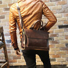 Внешний вид - Men Portfolio Business Case PU Leather Briefcase Laptop Shoulder Messenger Bag