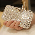 rhinestone cell phone cases - Bling Diamond Rhinestone Bow Wallet PU Leather Stand Case Cover For LG Phones