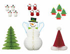 Christmas Honeycomb Party Table Decorations  Snowman Tree Santa