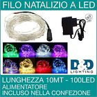 LUCI NATALE FILO LED 10M 100 LED MINILUCCIOLE SERIE LUMINOSA DECORATIVA NEW