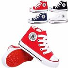 Boys Girls Plimsolls High Zipper Sneakers Childrens Flat Canvas Sport Shoes XZ01