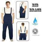 "Mens Waterproof Bib Brace Overalls M 30""-32"" Dungarees Work Fishing Workwear NEW"