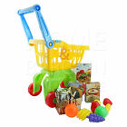 KIDS CHILDREN SHOPPING TROLLY PLAY SET WITH FOOD ACCESSORIES ROLE TOY GAME GIFT