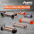 RHINO Winch Fairlead Rollers ~ Heavy Duty Compact - Rope Guide Fits All Winches