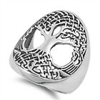 Women's Large Tree of Life Cute Ring New .925 Sterling Silver Band Sizes 5-12