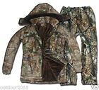 Men's Winter Real Tree Camouflage Jacket Pants Set Hunting Clothing Ghillie Suit