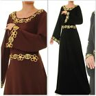 New Floral Sequin Long Bell Sleeved Maxi Dress Abaya- Size S/M/L 6225 -6