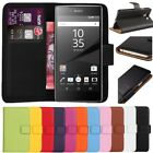 Premium Leather Flip Book Wallet Case Cover For Sony Xperia Z5 Compact / Mini SP