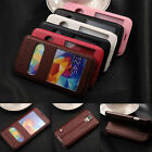 Luxury Flip Leather Double VIEW Window Stand Case Cover For Samsung Galaxy Phone