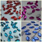 9*18mm Navette Rhinestones Sew On Flatback Crystal Glass Strass Chatons 50ps