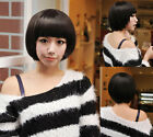 Women Girls Stylish Fashion Bob Short Straight  Full Hair Wigs Cosplay/Party