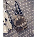 Women's Faux Leather Snakeprint Mini Small Backpack Rucksack Casual bag Purse