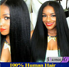kinky straight Brizilian remy human hair full/front lace wigs 6A+ high quality