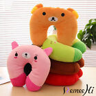 Cartoon U Shaped Travel Pillow Neck Support Head Rest Cushion Comfort Plush