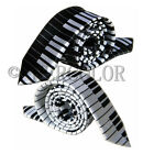 1/2 pcs of Black & White Piano Keyboard Keys Necktie Tie New Fashion