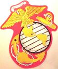 USMC MARINE EMBLEM  MILITARY EMBROIDERED IRON/SEW MOTORCYCLE BIKER  PATCH AL-12
