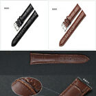 High Quality Womens Mens Genuine Leather Black Brown Watch Strap Band