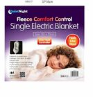 Electric Heated Under Blanket King Size Fleece Safe To Use Winter Single Double
