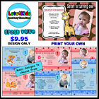 FIRST BIRTHDAY PERSONALISED BIRTHDAY PARTY INVITATIONS - PRINT YOUR OWN