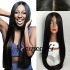 """Middle part 12""""-24"""" Indian Remy Human Hair Silky Straight  Lace Front/Full Wigs"""
