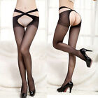 Sexy Women's Ladies Open Crotch Crotchless Sheer Pantyhose Silk Stockings Tights