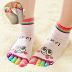 New Kids Girls Boys Toe Socks Cute Emoji Five Fingers Sock Breathable Hosiery