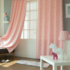 "Little Pom Pom Pink Curtains Eyelet Grommet Pink Curtain 102""W X 92""H Pair 1Set"