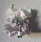 Silver Real Touch Calla Lily Babys Breath Corsage