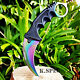 Counter Titanium Fade Karambit GO Knife Skin CS Strike Real Global CSGO Knives