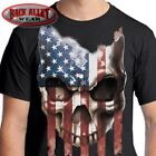 AMERICAN FLAG SKULL T-Shirt ~ USA Patriot Tee ~ Americana Don't Tread 'Merica image