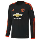 adidas Manchester United 2015/16 Mens Long Sleeve Third Jersey Shirt Black