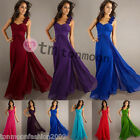 New Long Wedding Evening Formal Party Ball Gown Prom Bridesmaid Dress Size 8-16