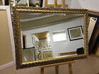 "NEW LARGE 3"" ORNATE GOLD SHABBY CHIC STYLE FRAMED OVERMANTLE WALL MIRROR"