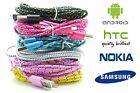 Strong Braided Micro USB Charger Cable Lead for SAMSUNG, SONY, HTC, LG, NOKIA