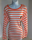 Womens Top Size XXL Orange or Green and White Striped NWT