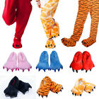 Chic Adult Cartoon Animal Cosplay Costume Slippers Dinosaur Claw Paw Shoe Indoor