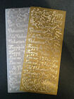 Two Sheets Peel Offs Valentine Gold Silver